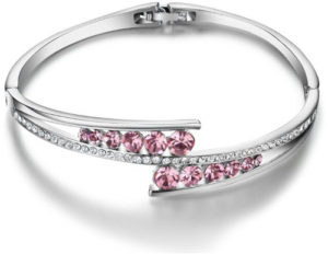 Stunning pink and silver bracelet