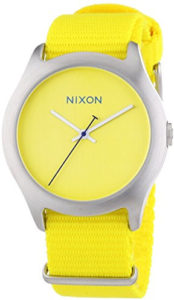 nixon yellow watch
