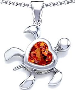 orange turtle pendant necklace