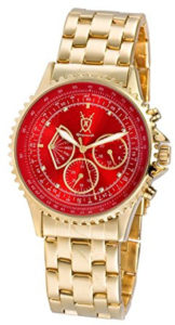 red and gold watch