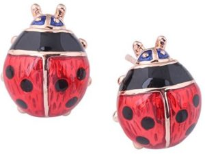 red ladybug earrings