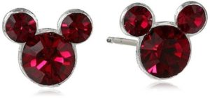 red mickey earrings
