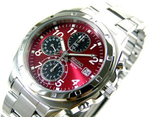 seiko red watch