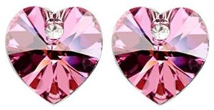 Swarovski Pink Heart Earrings