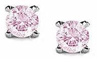 Swarovski pink studs earrings