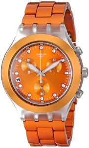 swatch orange watch