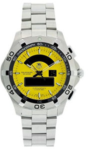 tag heuer yellow watch