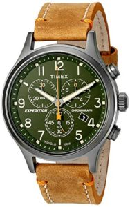 timex gren leather watch