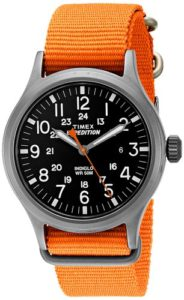 timex orange watch