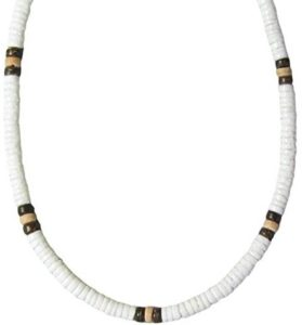 white coco bead necklace
