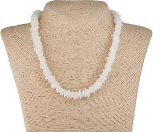 white Hawaiian necklace