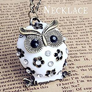 white owl necklace
