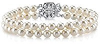 2 row white pearl bracelet