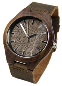 wood brown watch