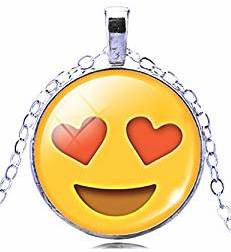 yellow emoji pendant necklace