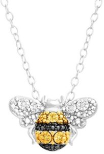 yellow bee pendant necklace