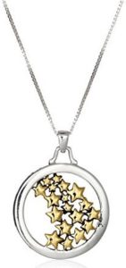 yellow stars pendant necklace