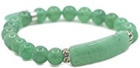 Green love charm stretch bracelet