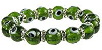 Green evil eye protection bracelet