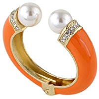 Orange pearl bracelet