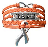 orange hope string bracelet