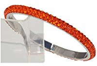 Orange rhinestone bracelet