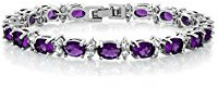 Purple cubic zirconia tennis bracelet