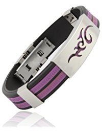 Purple friendship bracelet for men