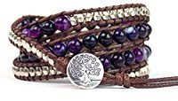 Purple tree of life bracelet