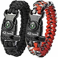 Red para cord survival bracelet